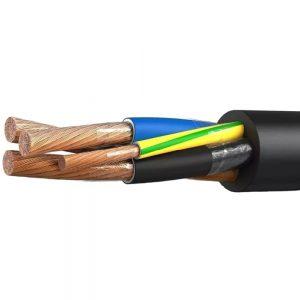 Сферы применения и особенности силовых кабелей в резиновой изоляции